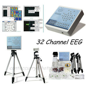 Ce Digital 32 Channel Eeg Machine Mapping System kt88 3200 2 Tripods software