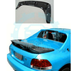 For Honda Del Sol Crx Type R 1992 1997 Carbon Fiber Rear Wing Trunk Spoiler Guh