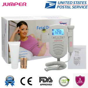 Fetal Doppler Heartbeat Detector Ultrasound Pregnant Baby Heart Rate Monitor Lcd