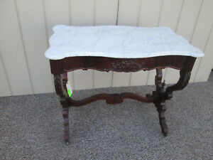 54414 Antique Victorian Marble Top Table Stand