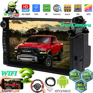 For 2009 2012 Dodge Ram Truck Wifi App Bluetooth Fm Gps Android Car Radio Stereo