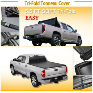 5 5 Short Bed Trifold Tonneau Cover Fit 07 19 Toyota Tundra Crewmax Cab