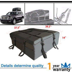 12 Cubic Waterproof With Protective Mat Cargo Roof Top Carrier Bag Car Van Suv