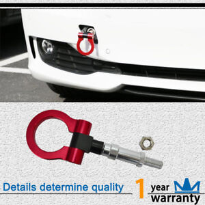 1pcs Red High Quality Tow Hook Trailer Ring Fit Honda Fit Jazz Cr Z