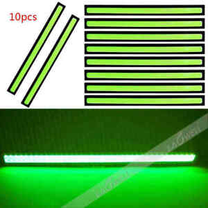 Us 10pcs 12v Led Strip Drl Daytime Running Light Fog Cob Car Lamp Driving Green
