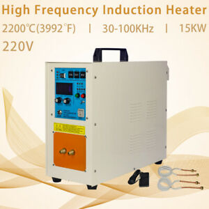 15kw 30 100 Khz High Frequency Induction Heater Furnace 220v 2200 3992