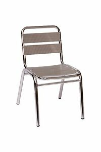 Aluminum Parma Stacking Chair Outdoor Restaurant Commercial Dining Lightweight