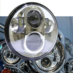 5 75 5 3 4 Motorcycle Projector Led Light Bulb Headlight For Harley Day