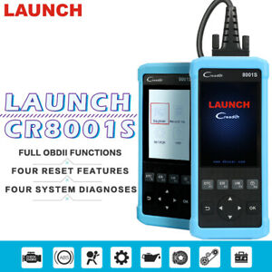 Launch Creader Cr8001s Obdii Diagnostic Scanner 4 System Reader Pk Viii 8 Crp129