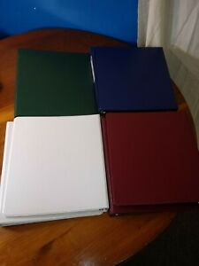 Lot Of 7 Avery dennison Durable 3 ring Reference Binders 11 X 8 5 X 1 Item 27253
