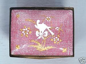 Antique 18c Battersea Bilston Pink Enamel Snuff Box W Dove Mirror Vr