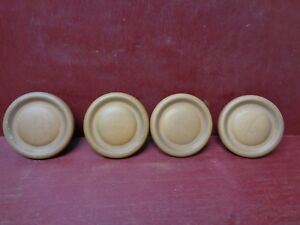 4 Nos More Avai Vintage Mid Century Wood Cabinet Drawer Chest Dresser Knobs 02