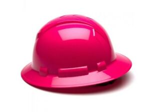 Ridgeline Full Brim Hard Hat Hp54170 Hi vis Pink Full Brim Style 4 point Standar