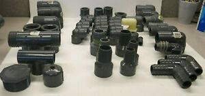 Grey Pvc Sch 80 Pipe Fittings 1 2 3 4 1 1 1 4 1 1 2 2 Lot Of 50
