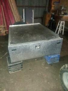 Truck Bed Diamond Plate Aluminum Slide Out Tool Box 16 X 48 X 60 Long