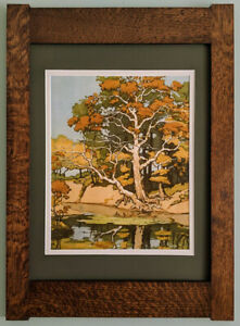 Mission Style Bungalow Quartersawn Oak Arts Crafts Framed Print Old Sycamore