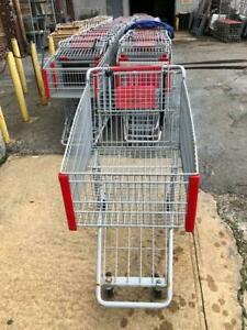 Shopping Carts Large Metal Basket Trailer Steel Discount Store Fixtures Grocery