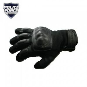 New Police Force Hard Knuckle Tactical Gloves Extra Large Comfortable Leather