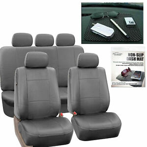 Pu Leather Car Seat Covers Top Qualityset Gray Free Gift Dash Grip Pad