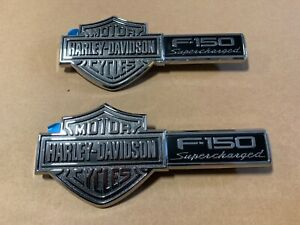 New Nos Oem Ford Harley Davidson 2002 2003 Name Plate Badge Pair Left And Right