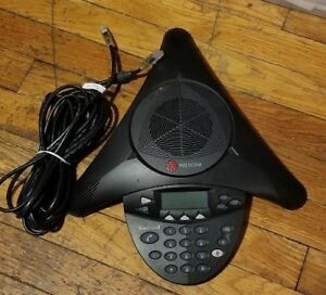 Used Polycom Soundstation 2 Ex Expandable Conference Phone 2200 16200 001