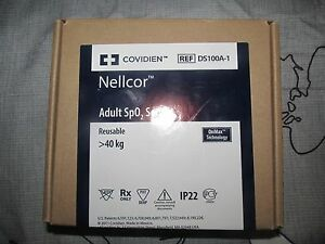 Nellcor Ds100a 1 Adult Spo2 Finger Sensor By Covidien Genuine New Sealed Box