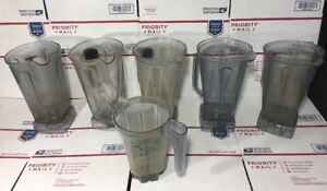 Lot Of 6 Vitamix Containers W blades As Is no Returns works stained Dirty