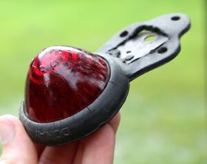 Vintage Do Ray Lamp Red Glass Light Bicycle Hot Rod Trailer Motorcycle Marker