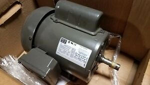 New Weg 1 Hp Single Phase Motor 00136es1bd56 115 208 230 Volt