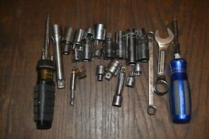 Lot Of 20 Loose Tool Items Mac Matco Snap on Craftsman And More Free Shipping