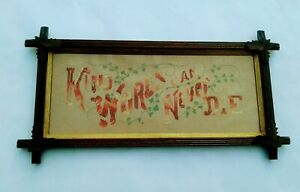 Victorian Paper Punch Kind Words Can Never Die Sampler Adirondack Frame