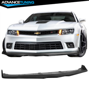 Fits 14 15 Chevy Camaro Ss Z28 Ikon Style Front Bumper Lip Unpainted Pp