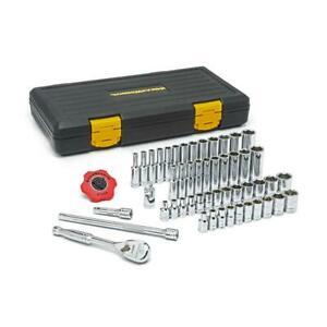 Gearwrench Ratchet Socket Set 1 4 In Drive 3 Ratcheting Arc 60 Tooth 51 Piece