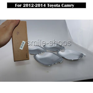 4pcs Accessories Chrome Door Handle Bowl Covers Trims For 2012 2014 Toyota Camry