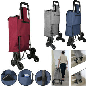 Trolley Dolly Stair Climber Shopping Grocery Folding Utility Cart With Wheels