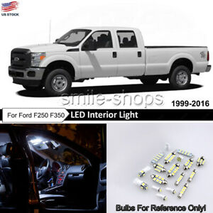 20x Pure White Interior Led Lights Bulb Package Kit For 1999 2016 Ford F250 F350