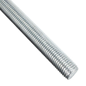 1 8 Steel Fully Threaded Rod Zinc Plated Right Hand Threads 3 3ft Long