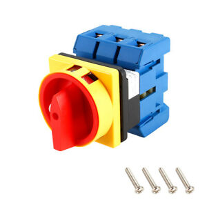 Changeover Switch 2 Position Rotary Selector Cam Switch 6 Terminal Latching 100a