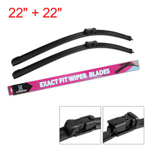22 22 Exact Fit Front Windshield Wiper Blades For 15 18 Chevrolet Silverado