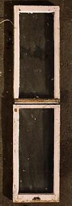 Pair 18 X73 Antique Vintage Double Hung Wood Wooden Sash Window Glass Lite Pane