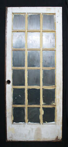 35 X84 X1 75 Antique Vintage Exterior Entry French Wood Wooden Door Window Glass
