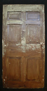 37 X77 Antique Vintage Solid Wood Wooden Colonial Door 6 Raised Panel Hardware