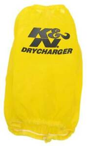 K N Drycharger Yellow Air Filter Wrap 7 5 Base 4 5 Top I D Rc 5107dy