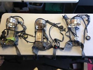 Lot Of 3 Survivair Mark 2 3 Scba 942200 Apparatus Pack Fire Rescue Used