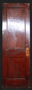 2 Avail 26 W Antique Vintage Interior Solid Wood Wooden Doors 2 Recessed Panels