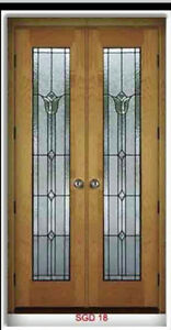 Leaded Glass Designer Bevel Tulip Interior Doors
