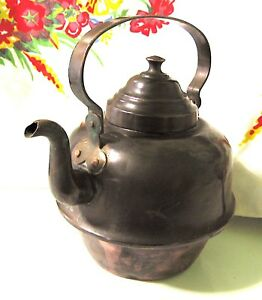 V Lund Hamar 2 Antique Hand Forged Copper Kettle Tin Lined 8 Cup Made In Norway