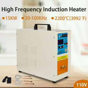 110v 15kw High Frequency Induction Heater Furnace 30 100 Khz