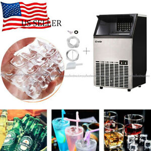 100lb 24hr Stainless Steel Commercial Ice Maker Built in Undercounter Freestand