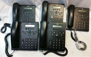 Lot Of 5 Cisco Cp 6921 Business Office Voip Ip Phone Stand Handset Used
